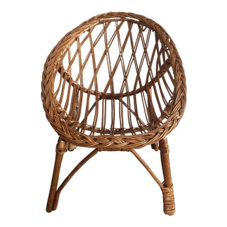 Vintage Child's Wicker Chair