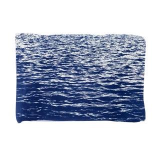 Blue Sea Waves Cyanotype Print
