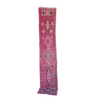 "Vintage Boujaad Moroccan Berber Rug - 2'5"" x 11'6"""