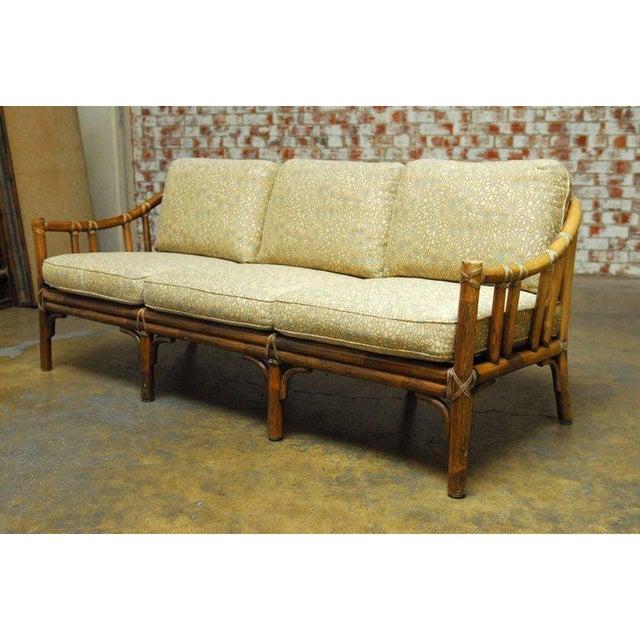 Organic Modern Bamboo Rattan Sofa by McGuire   Image 3 of 9. Organic Modern Bamboo Rattan Sofa by McGuire   Chairish