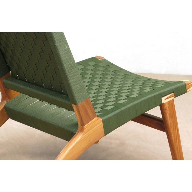 Mid-Century Modern Green Nylon Lounge Chair - Image 6 of 7