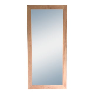 Maple Wood Floor Mirror