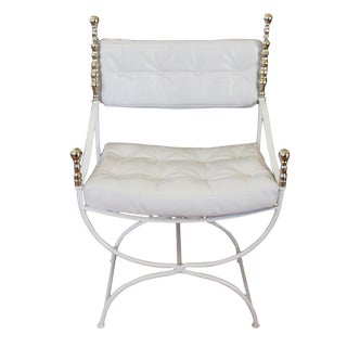 White Leather Throne Chair