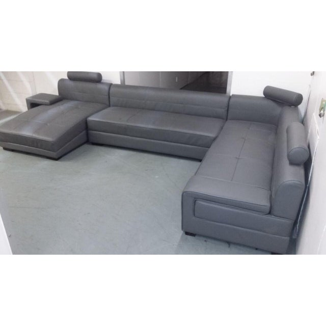 Modern Gray Sectional Sofa - Image 7 of 8