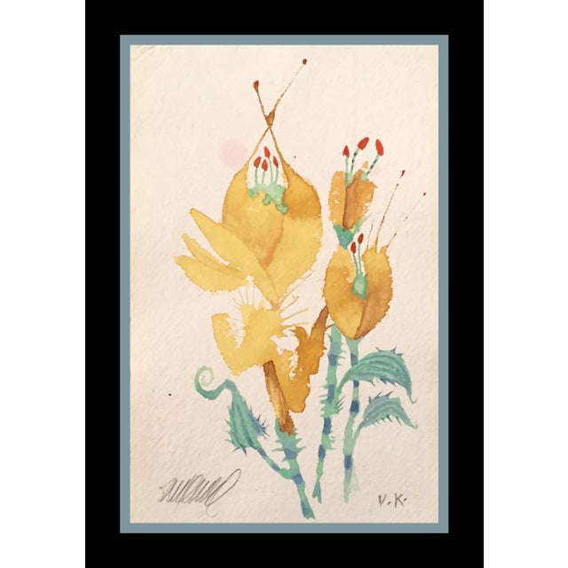 "Image of ""Prickly Yellow Tulips"" Original Watercolor"