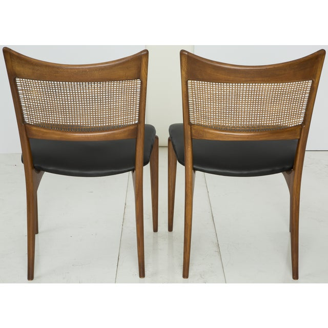 Jens Risom Style Woven Back Chairs - Pair - Image 8 of 9