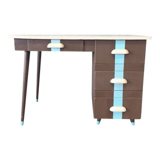 Upcycled Mid-Century Hairpin Leg Desk