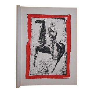 1959 Vintage Ltd. Ed. Marino Marini Silkscreen-Equine-Folio Size