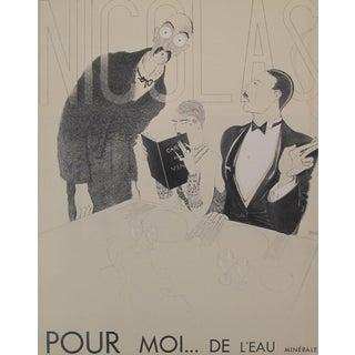 """1930s Paul Iribe """"Pour Moi... De L'eau Minérale"""" Original French Art Deco Print"""