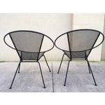 Image of Salterini Wrought Iron Radar Hoop Chairs - A Pair