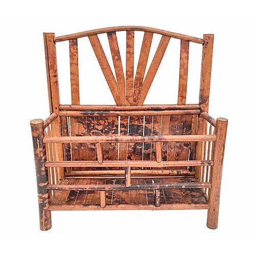 Antique bamboo desk organizer chairish - Bamboo desk organiser ...
