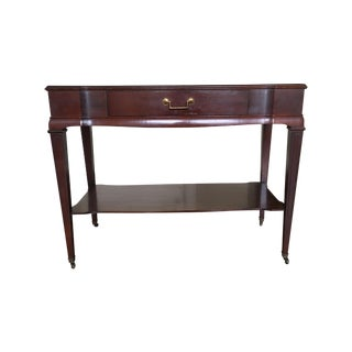 Vintage Weiman-Style Faux Leather Console Table