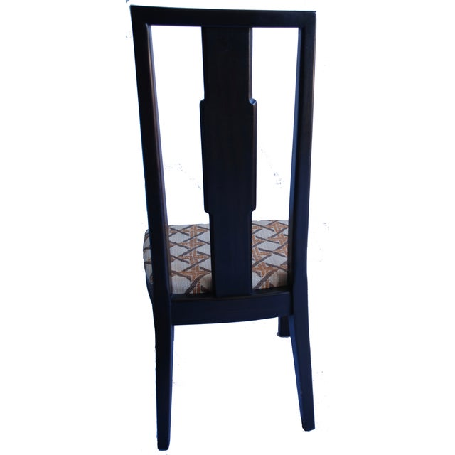 Image of John Widdicomb Burl Walnut Dining Chairs - S/6