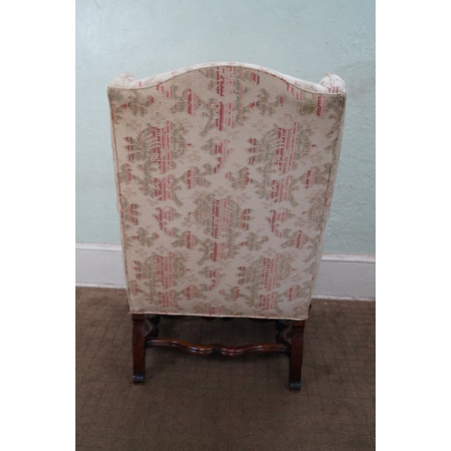 Spanish Renaissance Style Wing Chair - Image 4 of 7