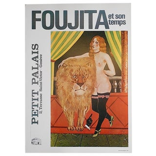 Vintage Foujita Poster Lithograph