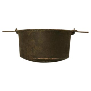 C. 1840 Handmade French Copper Cauldron