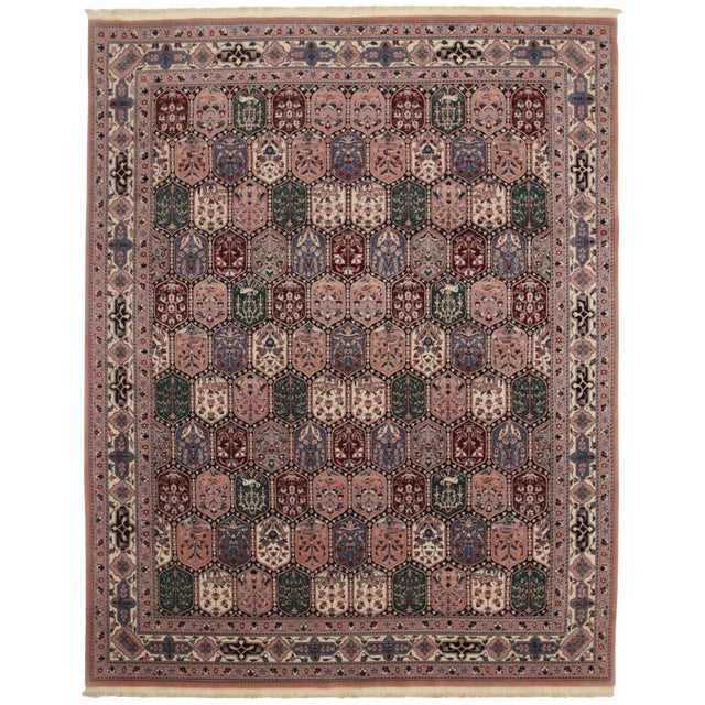 Rugsindallas Vintage Persian Design Wool Area Rug: RugsinDallas Vintage Hand-Knotted Persian Style Rug