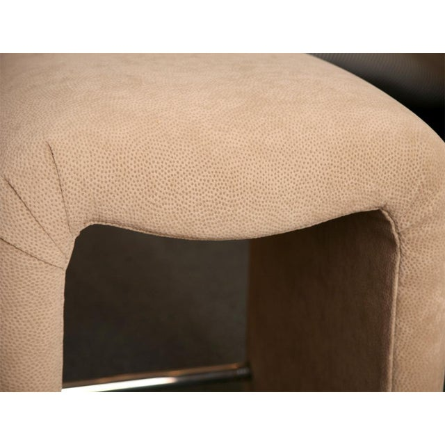 Luxe Modern Faux Ostrich Upholstered Stools - Image 7 of 9