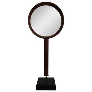 Vintage Wood Hand Mirror