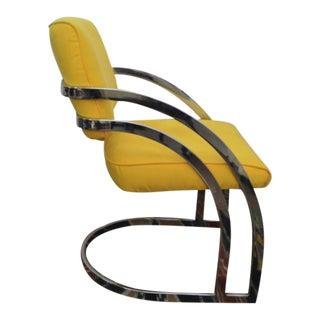 Milo Baughman Mid-Century Metal Cantilever Chair