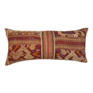 Antique Laos Woven Textile Pillow