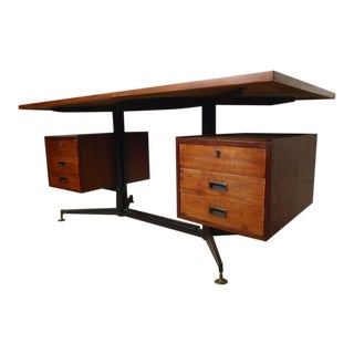 Italian Midcentury Desk with Floating Top