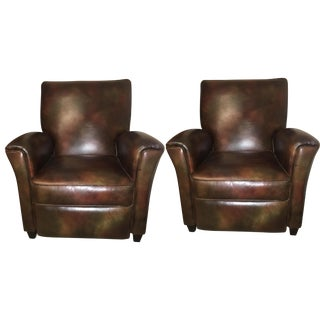 Bradington Young Leather Reclining Chairs - A Pair
