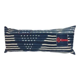 Boho African Tribal Indigo Lumbar Pillow