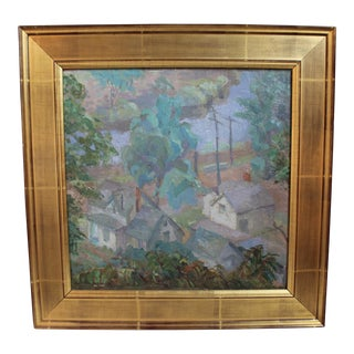 """A Quiet Town"" Original Painting"