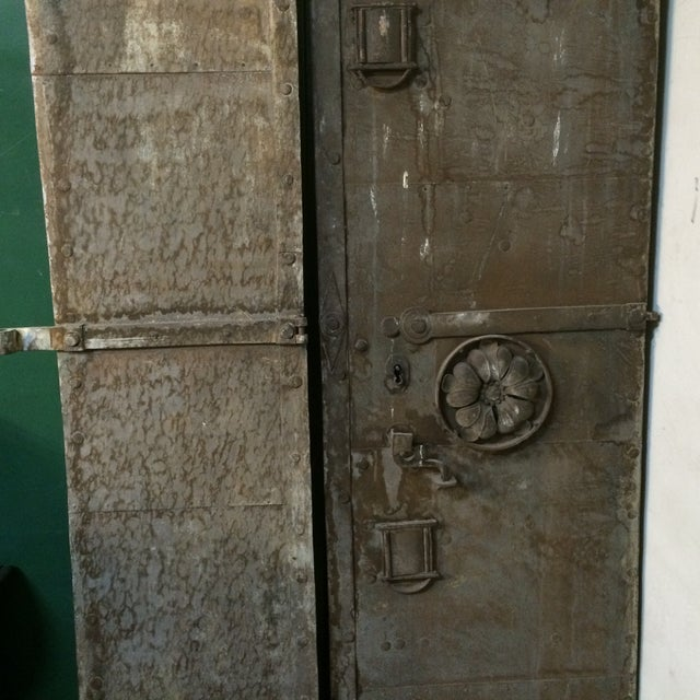Vintage Industrial Metal Doors : Industrial metal castle door chairish