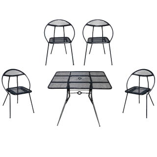Salterini Mid-Century Modern Steel Outdoor Patio Dining Set