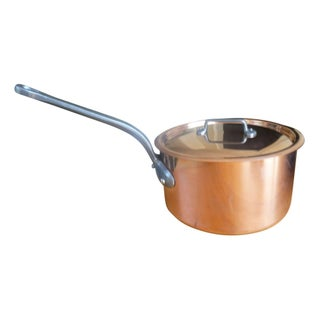 """Mauviel"" E. Dehillerin Copper Sauce Pot With Lid"
