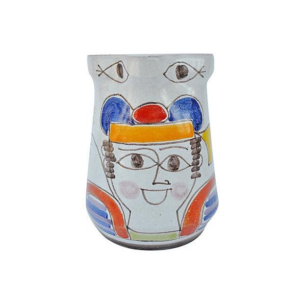 Hand-Painted Italian Pitcher - Image 4 of 4