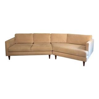 Custom Made Cream Angled Couch