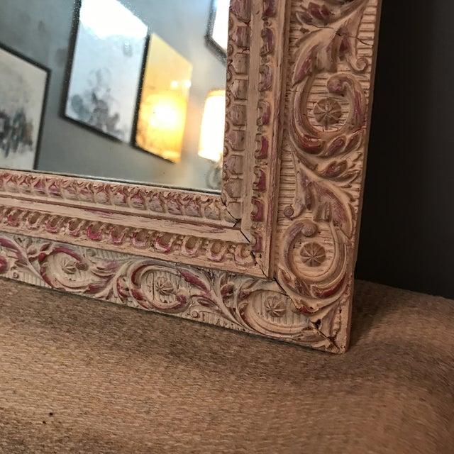 Vintage Carved Wood Mirror - Image 4 of 6