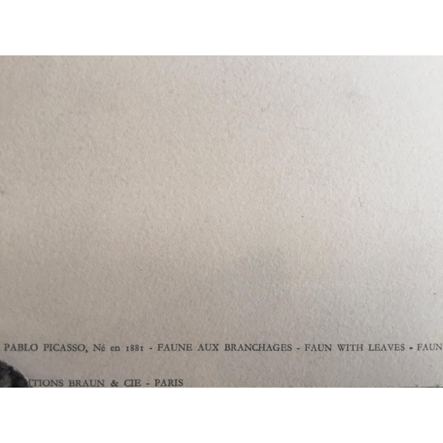 "Pablo Picasso 1948 ""Faune aux Branchages"" Lithograph - Image 4 of 5"