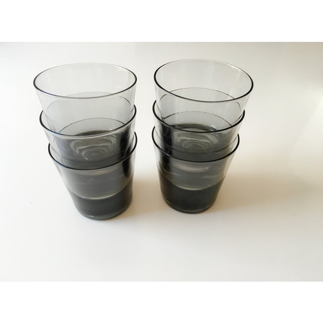 Image of Mid-Century Smoked Glasses - Set of 6