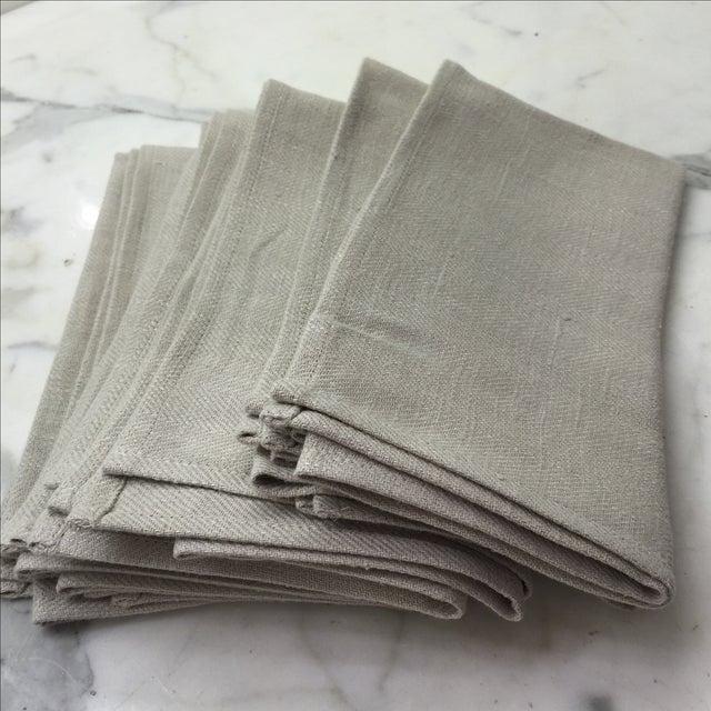 Platinum Grey Linen Napkins - Set of 6 - Image 2 of 4