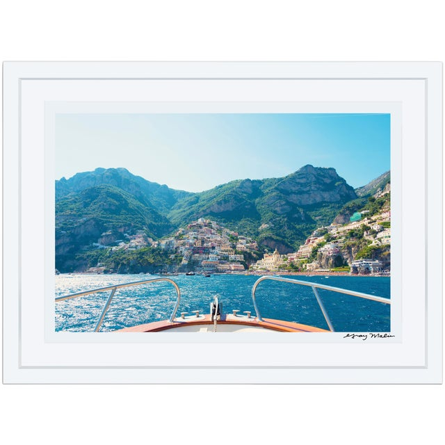 "Gray Malin Large ""Positano Coast"" Framed Limited Edition Signed Print - Image 1 of 4"