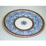 Image of Antique 1876 Royal Worcester Blue Royal Lily Bowl