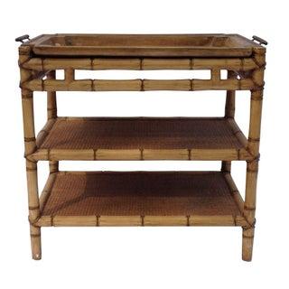 Chinoiserie Bamboo Bar Cart