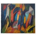 Image of Latin American Mario Beauregard Abstract Oil in Canvas