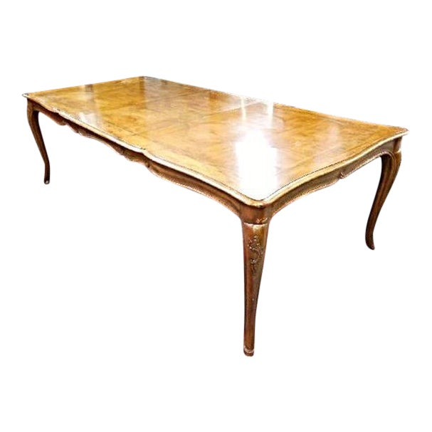 Vintage Baker French Provincial Extension Dining Table | Chairish