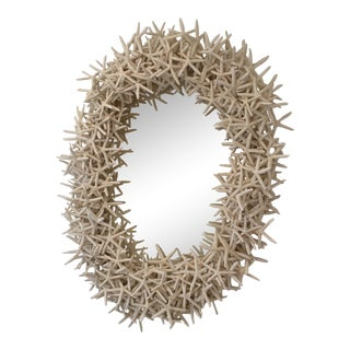 Contemporary Starfish Oval Wall Mirror