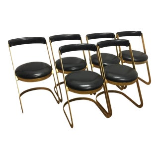 Black & Gold Dining Chairs - Set of 6