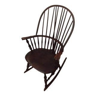 Antique Windsor Bow Back Rocker