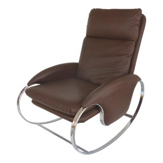 Guido Faleschini Chrome Rocking Chair