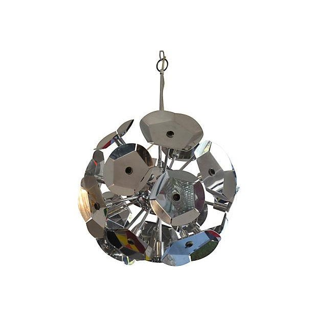 Image of Chrome Sputnik Chandelier From Italy
