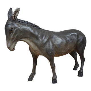 French Painted Plaster Model of a Donkey