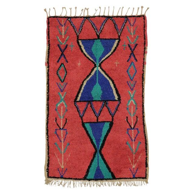 Vintage Berber Moroccan Rug - 3′9″ × 6′ - Image 1 of 6